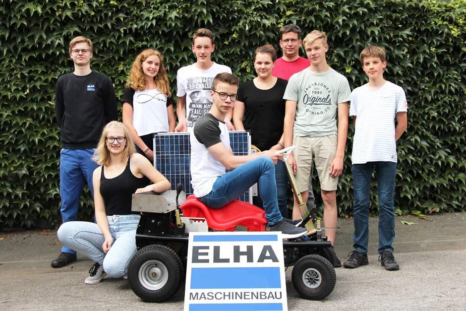 Das ELHA-Racing-Team für den Bobby Car SolarCup 2018