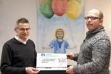 """Spendenübergabe an den """"Ambulante Kinder- und Jugendhospizdienst Paderborn-Höxter"""""""