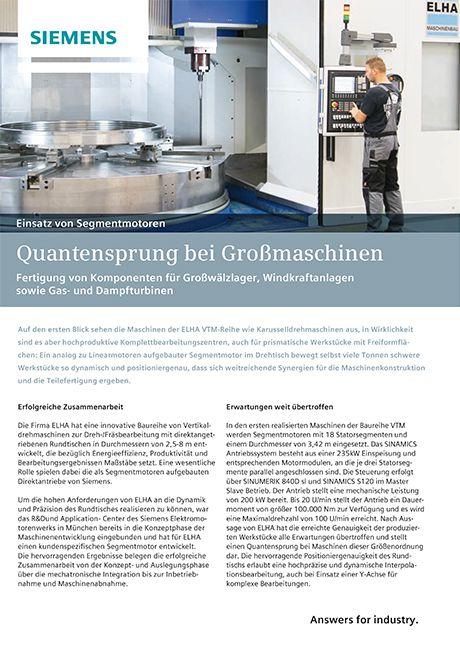 Vorschau - Flyer Siemens Quantensprung bei Großmaschinen