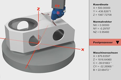 Preview - 5-axes simultaneous machining with HV head, dynamic B-axis