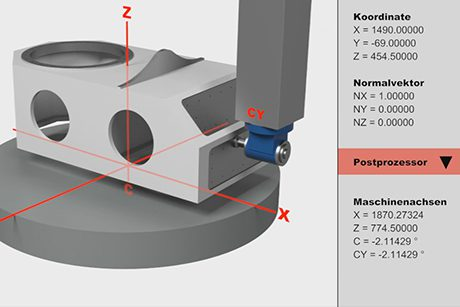 Preview - Vertical surface machining with horizontal milling head