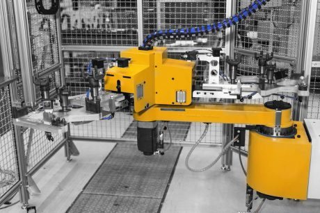 2 axis work loading robot system